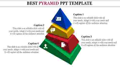 Layered 3D Pyramid PowerPoint Template