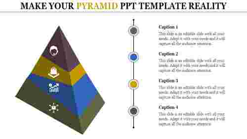 Pyramid PPT Template - Growth model