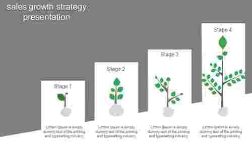 Sales Growth Strategy Presentation in tree design