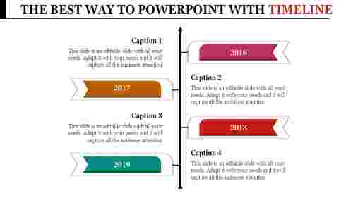 Powerpoint Template With Timeline for corporate business