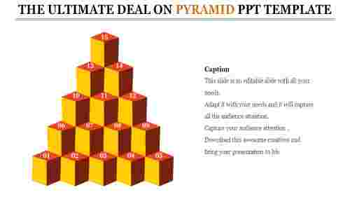 Cubes pyramid PPT template