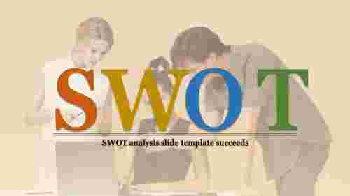 SWOT analysis slide template for businesses analysis
