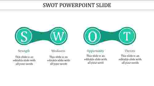 clamped SWOT powerpoint slide