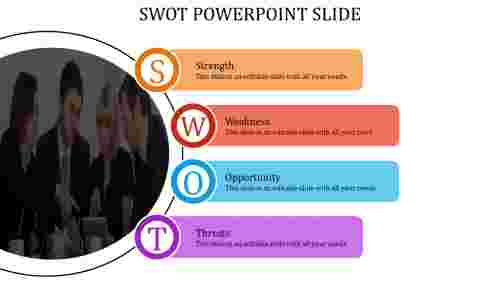 Infographic SWOT powerpoint slide