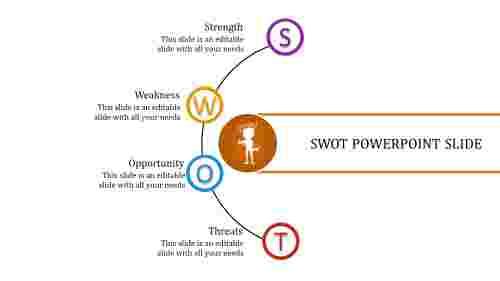 creative SWOT powerpoint slide