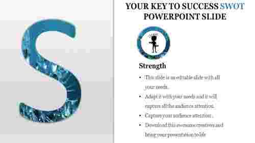 SWOT powerpoint slide-Strength identification
