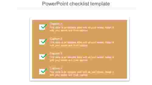 PowerPoint checklist template post-it note model