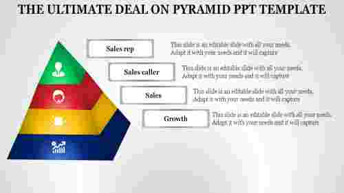 pyramid powerpoint template - Sales growth