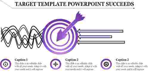 Arrows Target template powerpoint Leading Forword