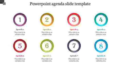 Circle powerpoint agenda slide template