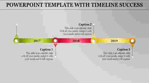 Editable powerpoint template with timeline