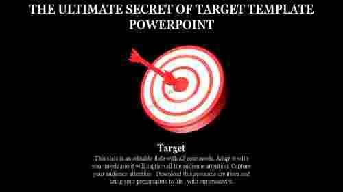 3D Target template powerpoint - Donut Shape