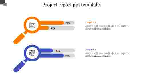 Creative project report PPT template