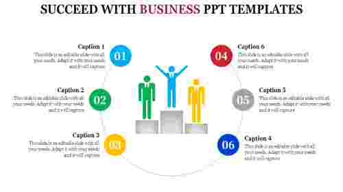 business powerpoint templates - representation of success