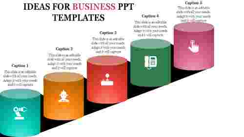 Business ppt templates - Cylinder Shape