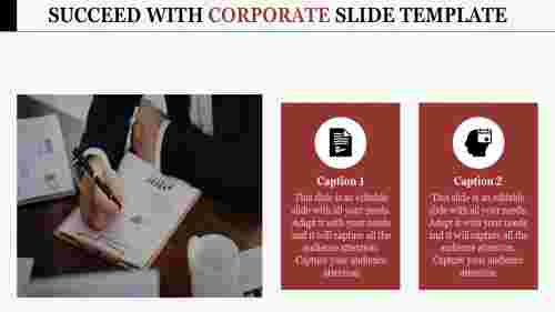 Corporate slide template - business executive