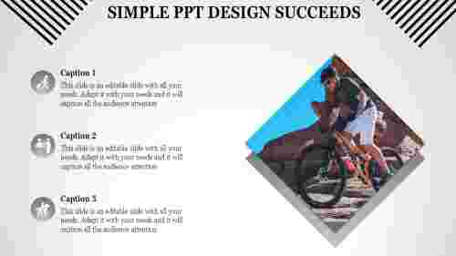simple powerpoint template with three stages
