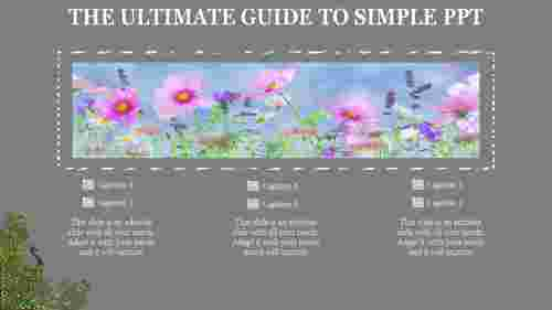 simple powerpoint template - flower background