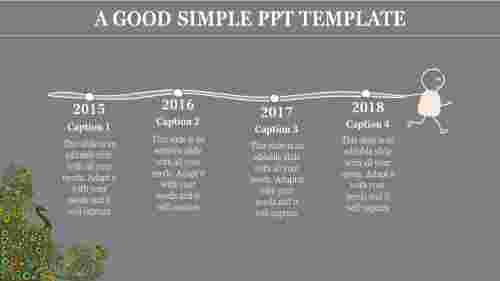 Simple PowerPoint template with grey backgroup