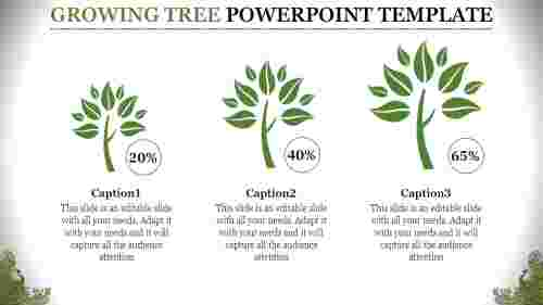 simple growing tree powerpoint template