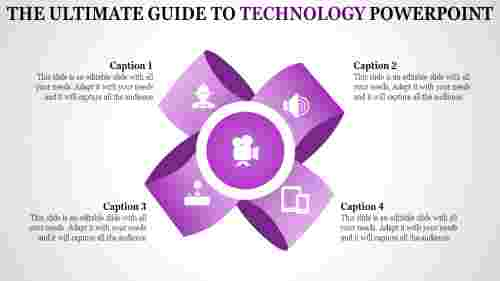 technology powerpoint templates in flower model