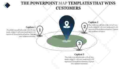 powerpoint map templates - location marker