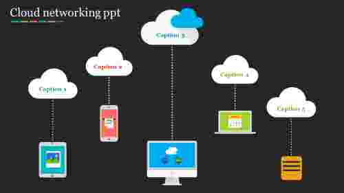 cloud networking powerpoint - Black background