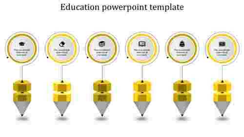 education powerpoint templates - Multi-shapes