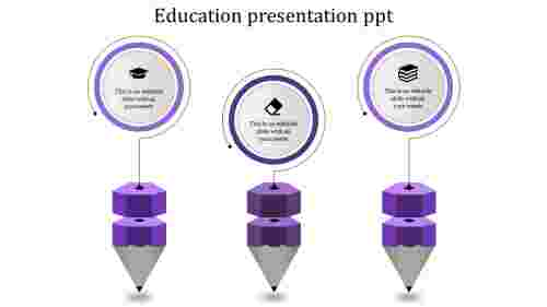 Simple cool education powerpoint templates for presentation