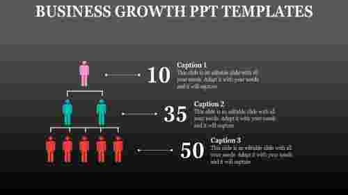 business growth PPT templates-hierachy representation