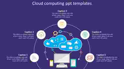 Infographics cloud computing powerpoint templates