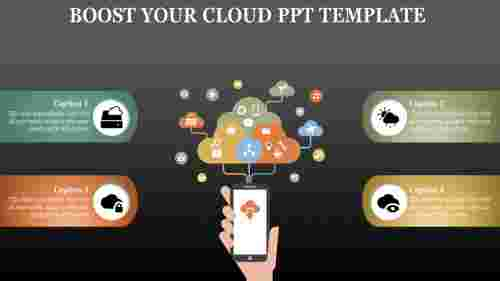 cloud powerpoint template with more icons
