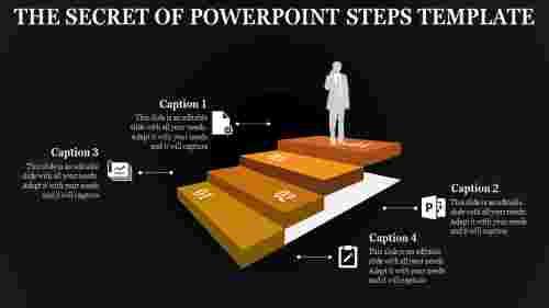powerpoint steps template-3D rectangle designs