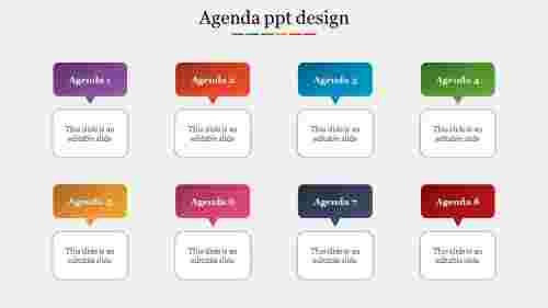 Three steps agenda ppt design