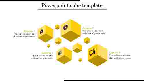 powerpoint cube template-powerpoint cube template-yellow
