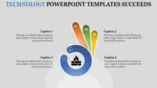 Finger model technology powerpoint templates