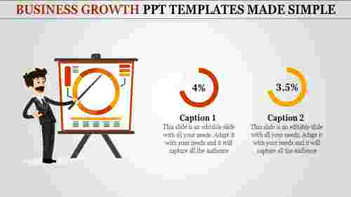 business growth powerpoint templates with analytics