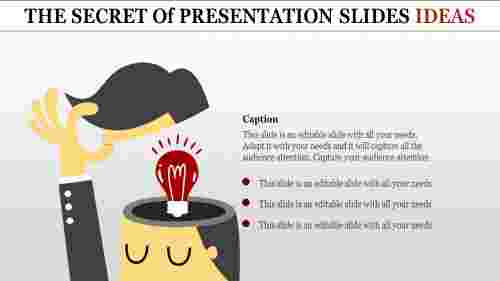 presentation slides ideas-human with bulb