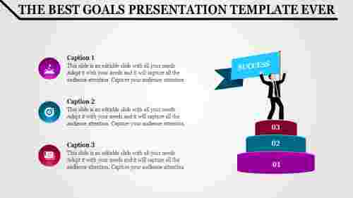 goals presentation template for growth