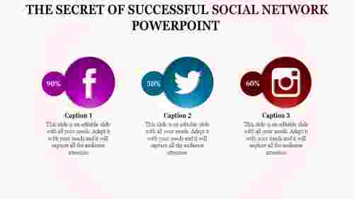 Linear social network powerpoint template