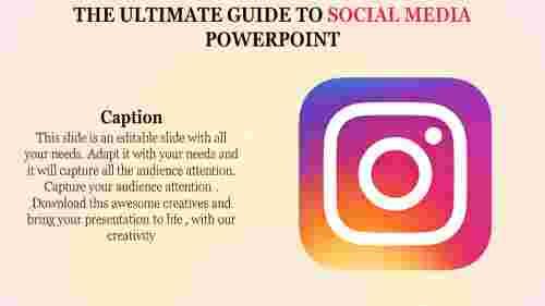 social media powerpoint template - Instagram logo