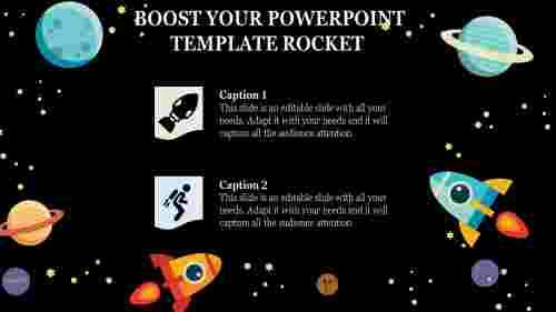 technical Powerpoint Template Rocket