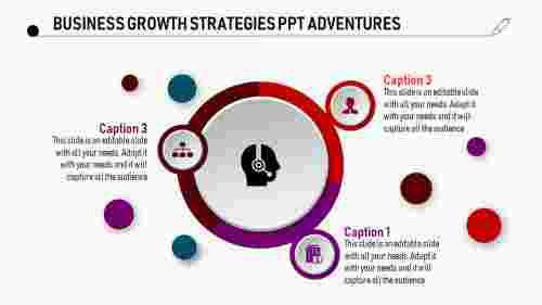 Block arc model business growth strategies PPT