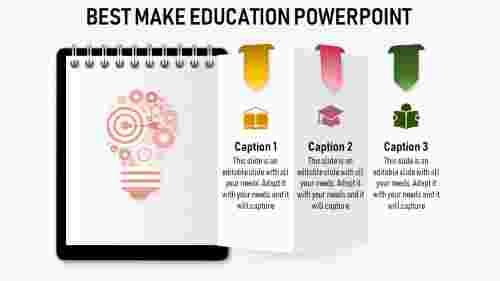 education powerpoint templates - Notepad model