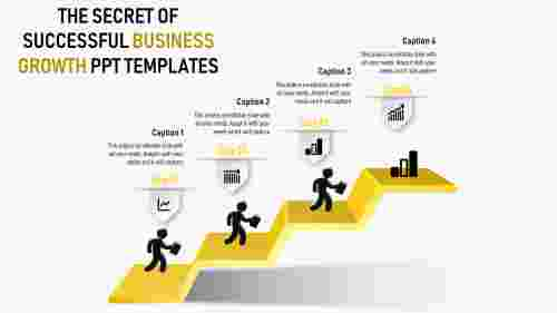 business growth powerpoint templates with stairs