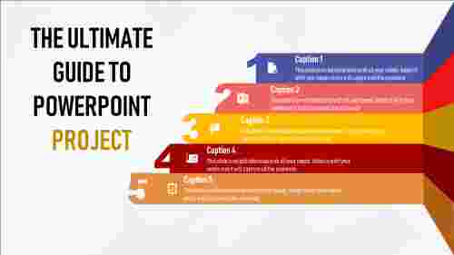 powerpoint project template - multi color ribbon model