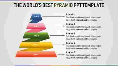 Layerd pyramid powerpoint template