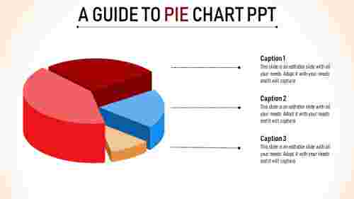 mluti colored pie chart powerpoint template