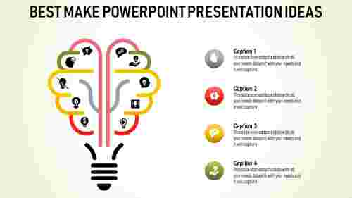 powerpoint presentation ideas - multicolor bulb