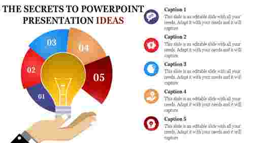 download powerpoint presentation ideas multi color bulb